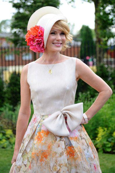 Amanda Holden woont de eerste dag van Royal Ascot in Ascot Racecourse op 19 juni 2012 in Ascot, Engeland. | Gorgeous fascinator