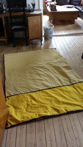 Et tæppe jeg har syet - bagsiden