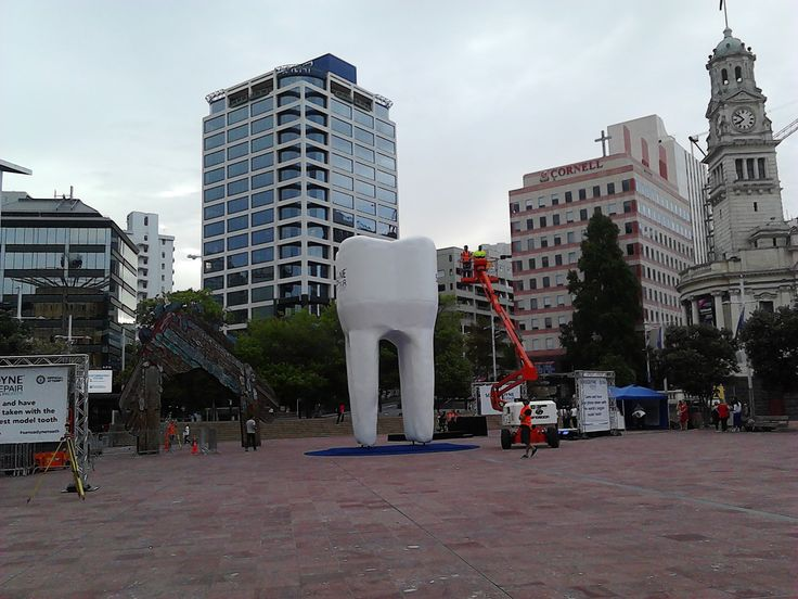 Giant tooth...Aotea Square, Auckland