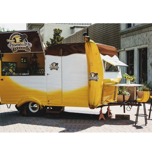 BANANASBYHANNAH.COM #Hannahsbananas #bananasbyhannah #frozenbananas #catering #events #parties #festivals #weddings #dessert #orangecounty #oc #california #socal #banana #glutenfree #yum #chocolate #vintagetrailer #trailer #restoration #1976 #yellow #cannedham #cannedhamman