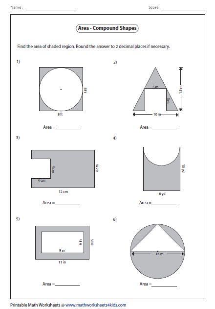 Area Worksheets | Area worksheets, Worksheets, Math practices