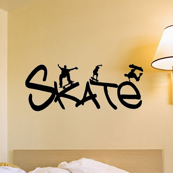 Planche à roulettes Wall Decal amovible Skateboarder Wall Sticker