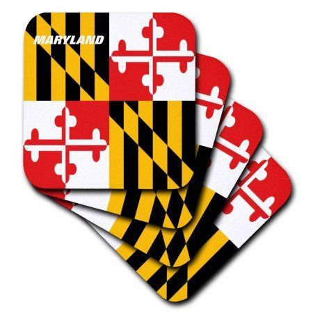 3dRose State Flag Of Maryland, Soft Coasters, set of 4
