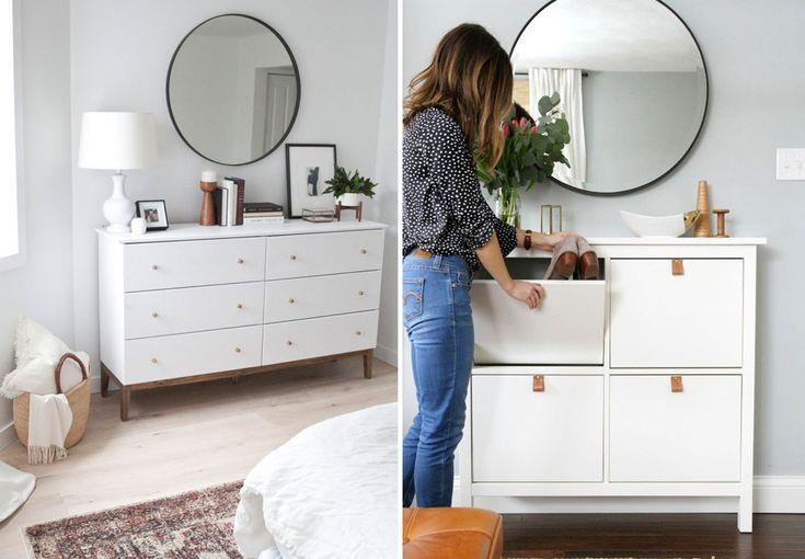 Opgradér dit soveværelse med disse Ikea-hacks, og få flotte møbler med mere opbevaring.