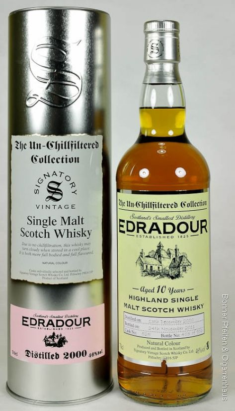 Signatory Vintage Edradour Whisky, Vintage 2002, 46%,  0,7l,  non chill filtered, Region: Highland, 10 y.o., Distilled: 13.12.2002, Bottled: 17.07.2013, Matured in: Sherry Butt, Cask No.: 464, Bottles: 774