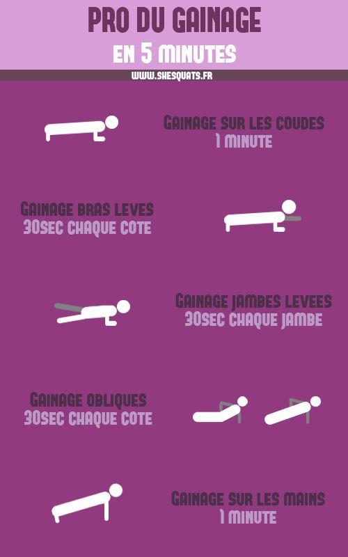 Devenir pro du gainage en 5 minutes avec cette série d'exercices à réaliser tous les jours !