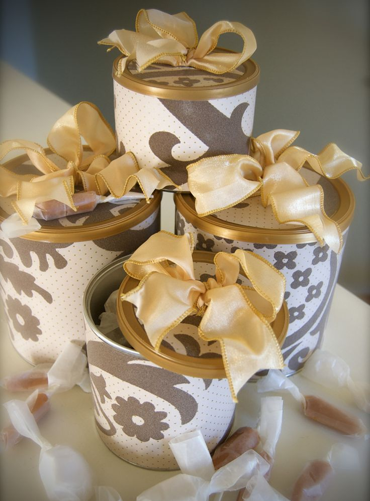 Gift boxes made from formula containers (homemade dessert bars, cookies..etc)