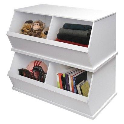 Badger Basket 2-Bin Storage Cubby - White