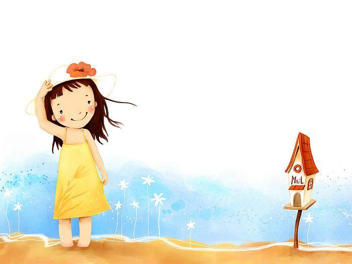Kim Jong Bok Illustrations(Vol.05) : Sweet Childhood Lovely Girl    - Autumn Fairy - Sweet Little Girl Art Illustration 1920*1600  23
