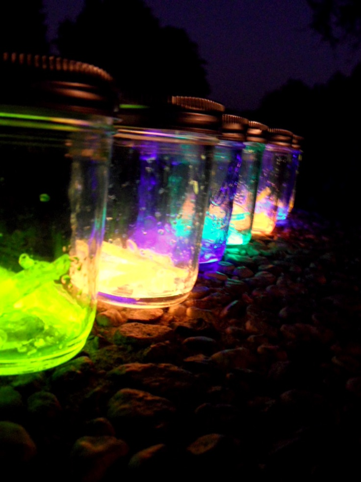 Glow Stick lanterns, great for camping!