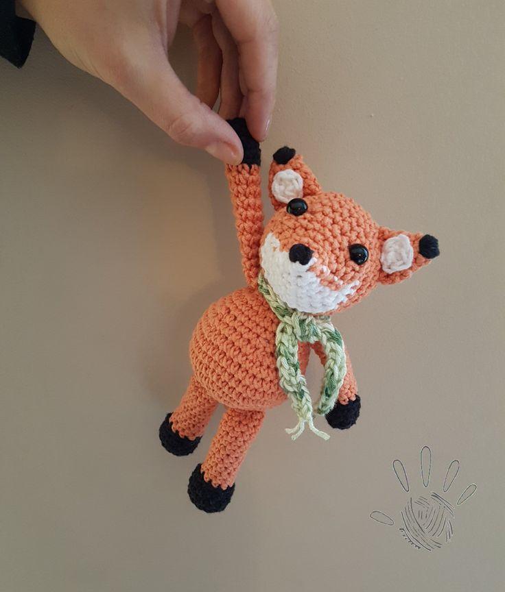 Freddie the Fox pattern toy gift baby boy girl unique handmade amigurumi plushies toys animal by ByAnia on Etsy