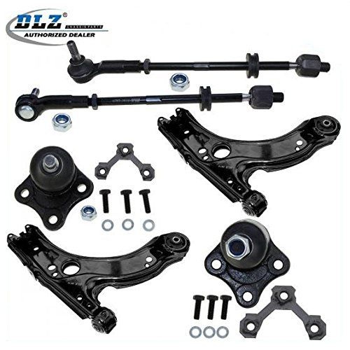 DLZ 6 Pcs Front Suspension Kit-2 Front Lower Control Arm+2 Front Lower Ball Joint, 2 Inner 2 Outer Tie Rod End Assembly for 1999 2000 2001 2002 2003 2004 Volkswagen Jetta. For product info go to:  https://www.caraccessoriesonlinemarket.com/dlz-6-pcs-front-suspension-kit-2-front-lower-control-arm2-front-lower-ball-joint-2-inner-2-outer-tie-rod-end-assembly-for-1999-2000-2001-2002-2003-2004-volkswagen-jetta/