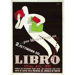 "Vintage advertising poster"" Settimana del Libro"""