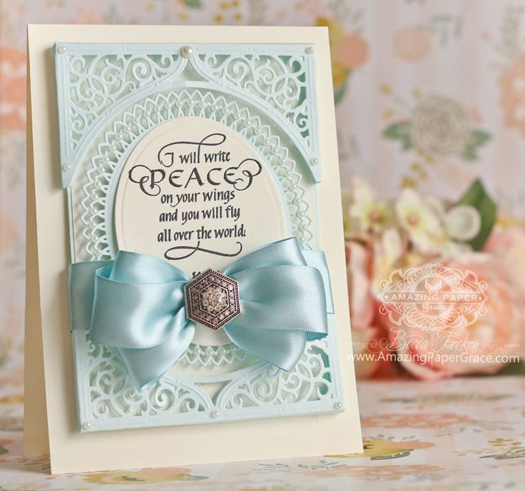 Card Making Ideas by Becca Feeken using Quietfire Design - I Will Write Peace, Spellbinders Classic Oval LG, Spellbinders Swirl Bliss Pocket, Spellbinders Oval Bliss - full supply list at www.amazingpapergrace.com