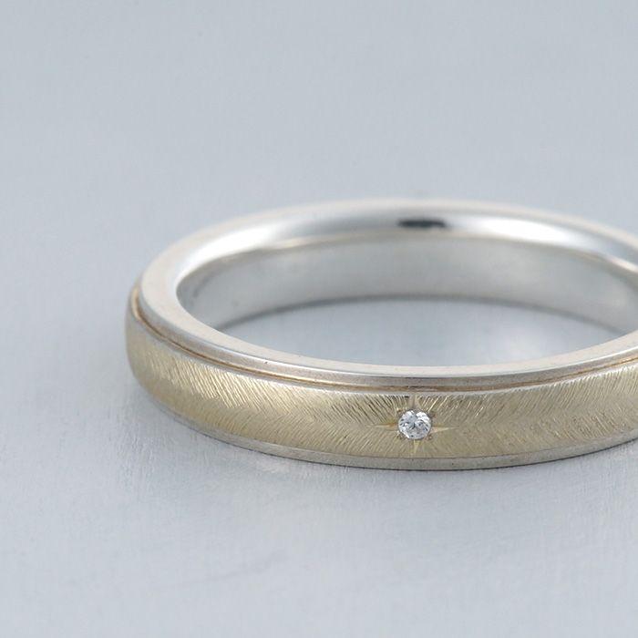 【ithマリッジリング】K18(ゴールド),Pt900(プラチナ),コンビカラー/マリッジリング:Ala(アーラ) [marriage,wedding,ring,結婚指輪,ウエディング,ブライダル,bridal]