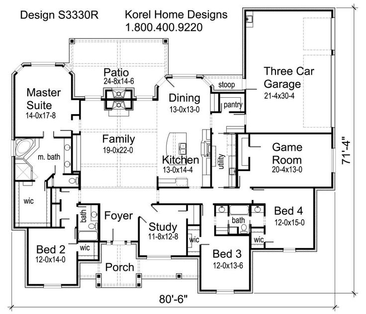 Best 25+ 4 Bedroom House Plans Ideas On Pinterest | House Plans, House  Blueprints And House Layout Plans
