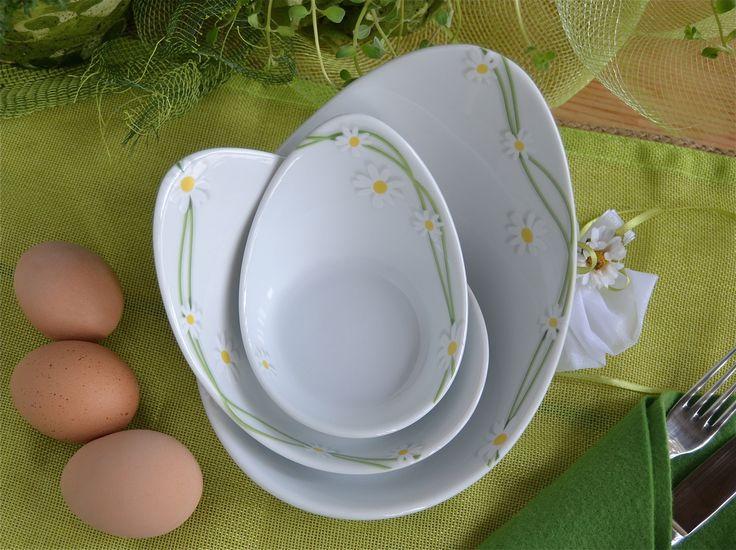 Apostrofi: graziosi contenitori in porcellana;  decoro Le Pratoline.Perfetti per la tavola di #Pasqua www.ancap.it