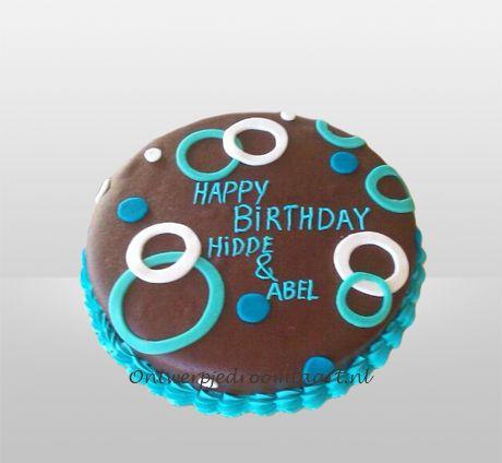 Verjaardagstaart chocolade