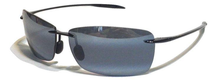 NEW  Maui Jim Lighthouse 423-02 Polarized Gloss Black w/ Neutral Gray Sunglasses…
