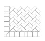 45 Degree Herringbone With Border Old Town Holland Concrete Paver Pattern