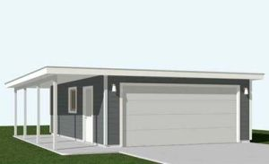 Flat Roof Garage Plans 480 1ftsp 26 W X 24 D By Behm Garage Plans Garage Building Plans Garage Plans With Loft