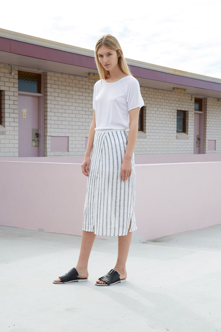 THIRD FORM RESORT 16 COLLECTION | COME AROUND SKIRT #thirdform #fashion #streetstyle #minimalism #chic #trend #skirt
