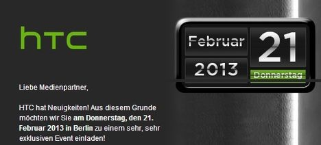 HTC has on 21st February 2013 invited to the Café Moskau in Berlin, will there be celebrate the HTC M7 Germany release with an event?