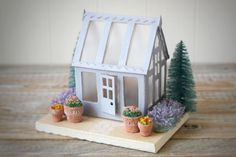Summer Valley Crafts: Greenhouse - Variation on a Tim Holtz Village Dwelling