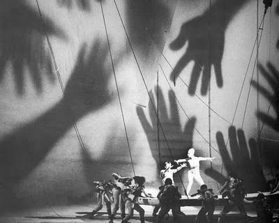 Shadow / Hands / Scale: Link to a small collection of designs by Czech scenographer Josef Svoboda