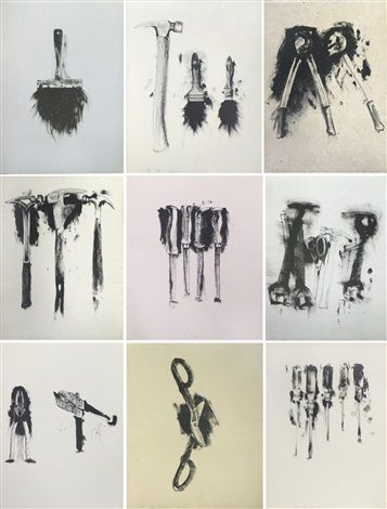 Untitled (folio of 9 tool prints) by Jim Dine