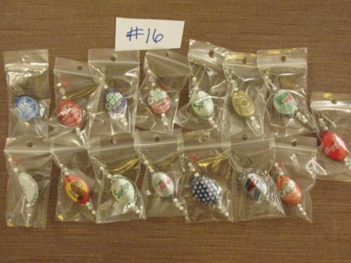Beer-Bottle-Cap-Lures-Lot-of-15-Handcrafted-MUST-SEE-large-assortment-Lot-16