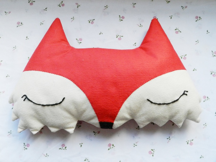 Cute Sleepy Red Fox Cushion Pillow. £20.00, Via Etsy.