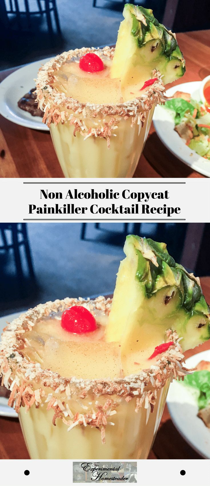 When it comes to non alcoholic tropical drinks, this copycat painkiller cocktail needs to be at the top of the list for easy tasty drinks. #painkillercocktail #nonalcoholictopcialdrinks #deliciousnonalcoholicdrinks #easytastydrinks #greatdrinkrecipes
