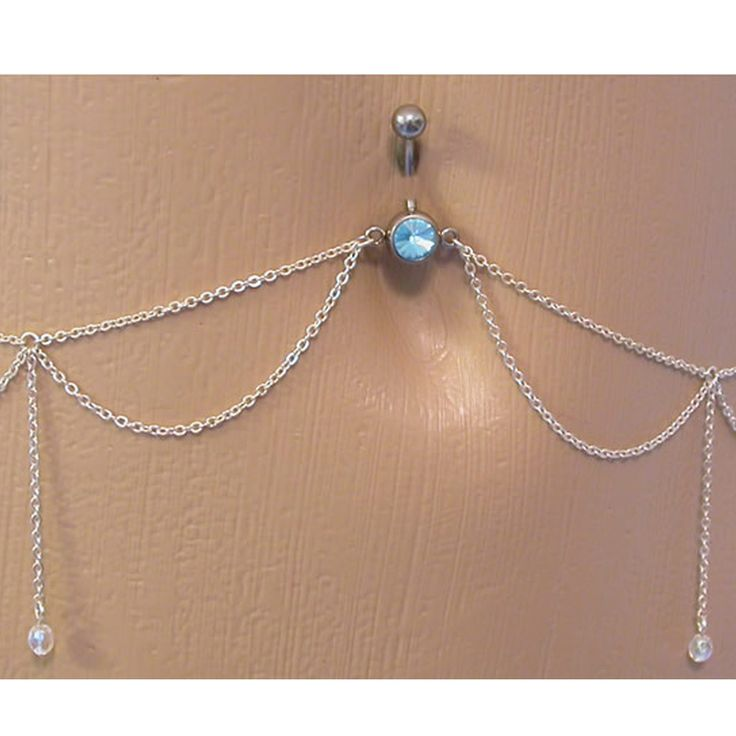 Belly Button Ring Navel Jewelry Dangle Waist Body Chain