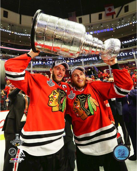2015 Stanley Cup Patrick Kane & Jonathan Toews #Chicago Blackhawks 8x10 Photo from $4.49