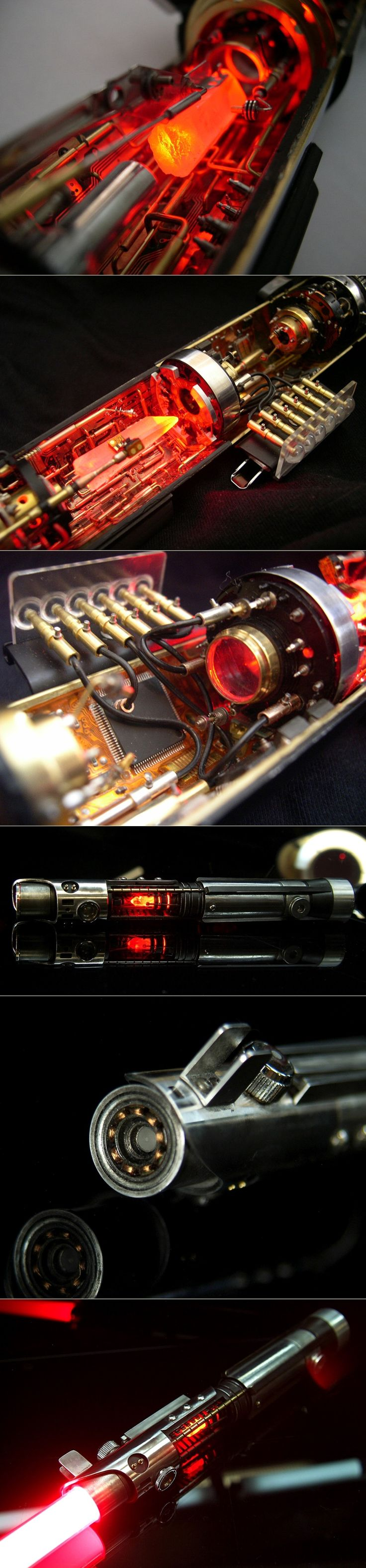 """Inside of a """"real"""" lightsaber (prototype)"""
