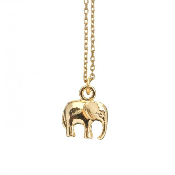 Estella Bartlett Gold Plated Elephant Necklace designed by fashion jewellery brand Estella Bartlett. This exquisite necklace is beautifully crafted from a fine gold plated necklace and finished with a dainty gold plated elephant pendant.