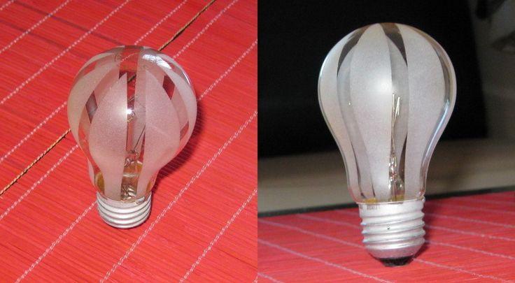 Sandblasted Light Bulbs
