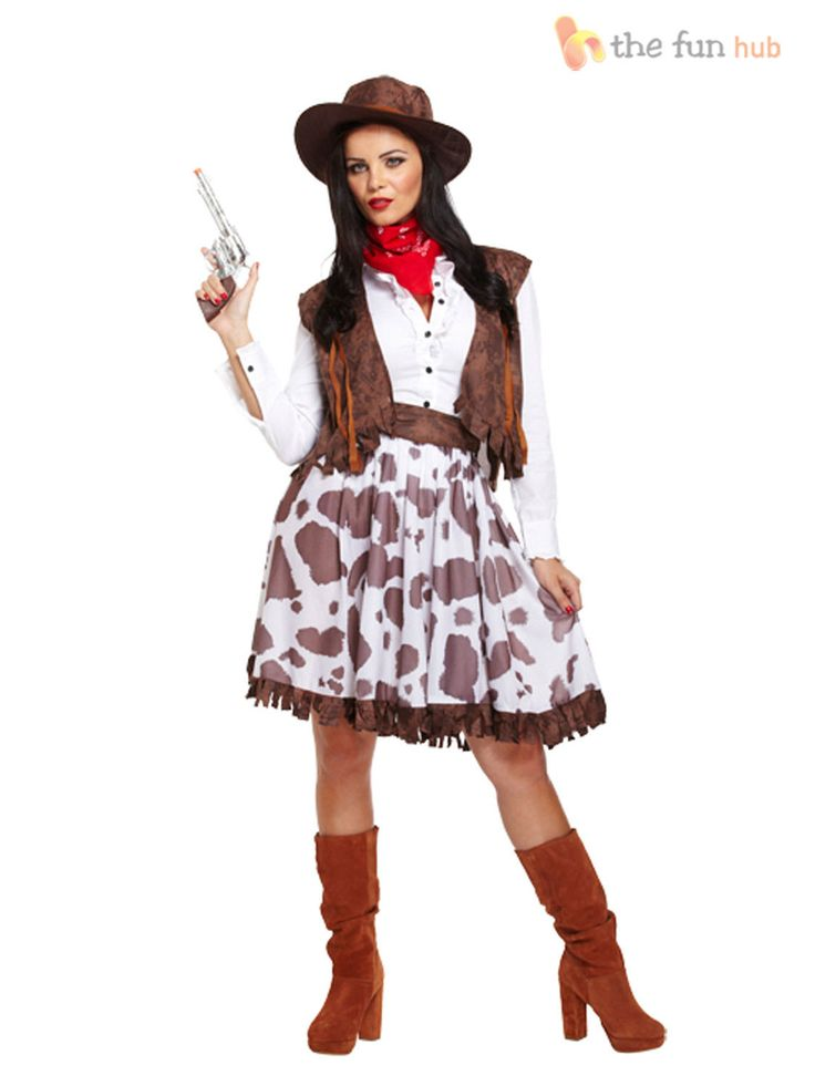 Sexy Ladies Cowgirl Cowboy Fancy Dress Costume Wild West Outfit 10 12 14 16 18 | eBay