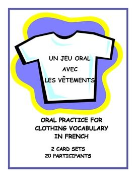 Teach, practice, and review French clothing vocabulary terms with this popular speaking and listening game.