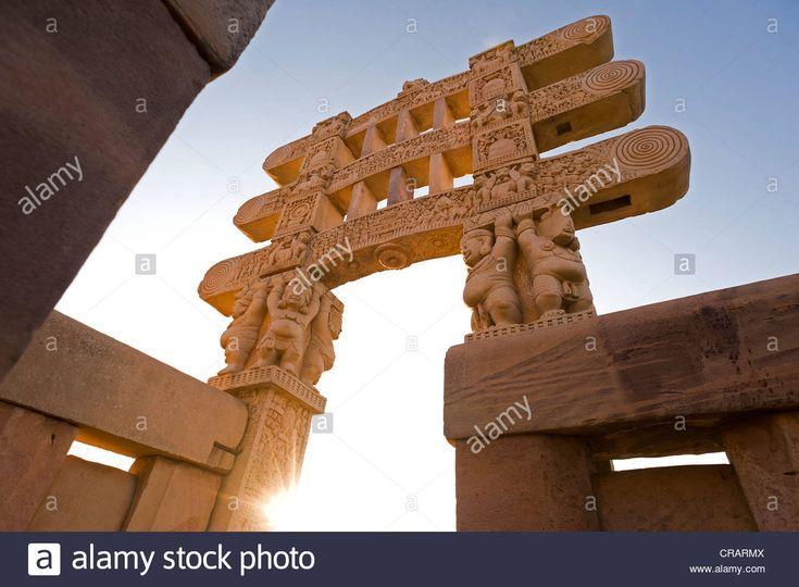 Stupas Of Sanchi, Unesco World Heritage Site, Built By King Ashoka Stock Photo, Royalty Free Image: 48795962 - Alamy