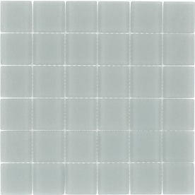 Elida Ceramica Storm Glass Mosaic Square Indoor/Outdoor Wall Tile (Common: 12-in x 12-in; Actual: 11.75-in x 11.75-in)