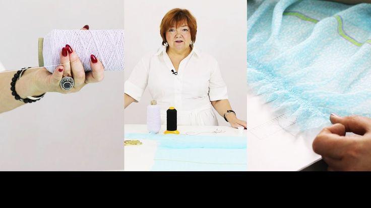 Как шить ниткой резинкой Технология пошива с использованием нитки резинк...