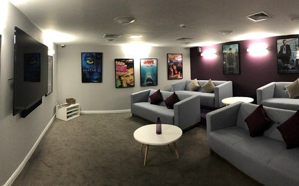 This building has a cinema room that is available for all students living here