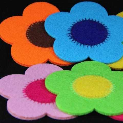 Flower Power Felt Coaster