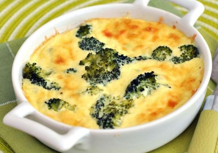 This savory pie has broccoli, cheese, and ham but only 4 grams of carbs per serving!