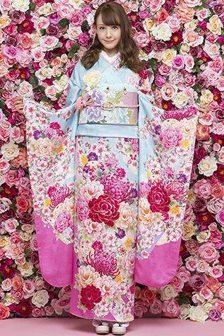 ~Touch Roses! #fashion E-818   振袖のレンタルなら一蔵 カタログも多彩に充実! 振袖の専門店