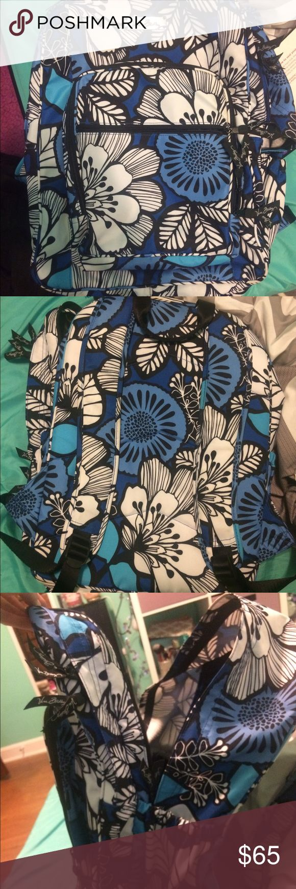Vera Bradley backpack Floral blue and white backpack Vera Bradley Bags Backpacks