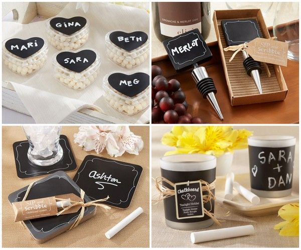 Chalkboard Wedding Party Favors from HotRef.com #chalkboard #wedding #favors