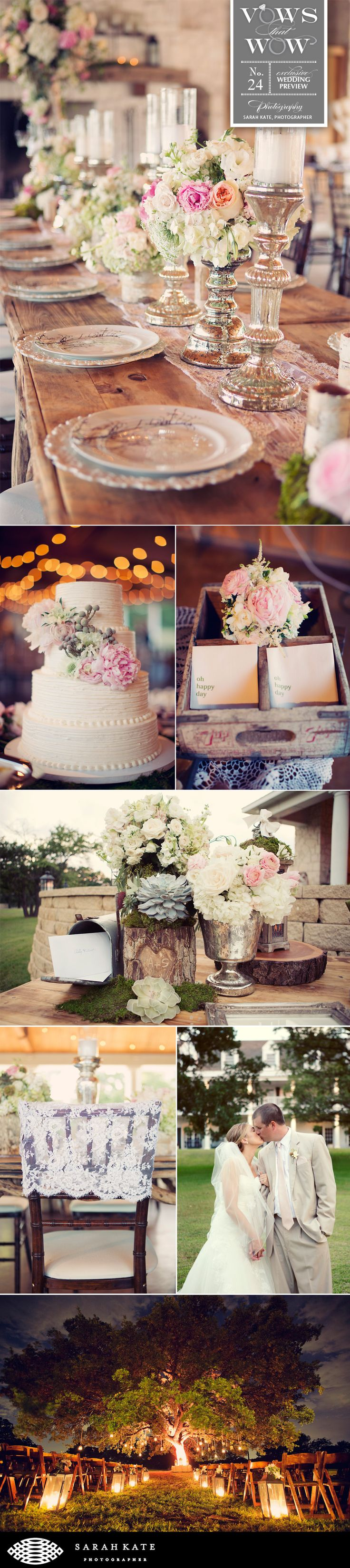 Adorable rustic vintage wedding by Holly Tripp Events at White Oaks Ranch in Pilot Point, Texas.